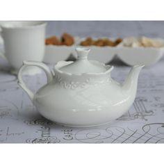 porcelanowy dzbanek provence chic #porcelain #jug #pot #tea #white #vintage #provence