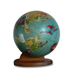Rescue Me Vintage Globe Art by wendygold on Etsy