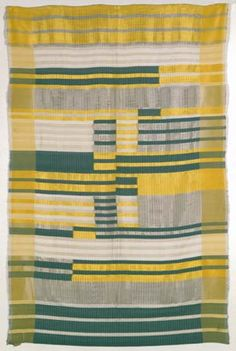 Anni Albers, Wall Hanging, 1925  Silk, cotten, and acetate.  57.125 x 36.187 inches ___   Die Neue Sammlung Staatliches Museum für angewandte Kunst, Munich __   ©2008 The Josef and Anni Albers Foundation / Artists Rights Society (ARS), New York
