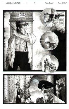Travis Charest X-Men/Wildcats pg 7  Comic Art