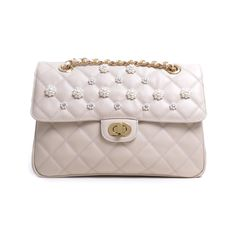 CARBOTTI 2424 - WOMAN LEATHER HANDBAG TRESOR BEIGE WITH EMBROIDERIES - http://carbotti.it/en/product/carbotti-2424-woman-leather-handbag-tresor-beige-with-embroideries/