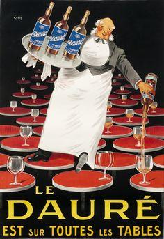 Poster by Lotti, 1924, Le Dauré est sur toutes les tables. (F)