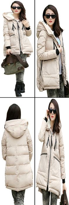 Thickened Down Jacket beige By combining our customers' product reviews, we have made some improvements on our down jackets in 2015/2016 winter season, including size, color, down, waterproof level, etc.