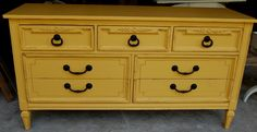 Mustard Dresser nursery ideas.