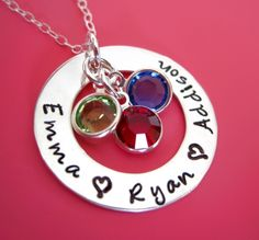 """Beautiful necklace by """"By Hannah Designs""""- I have ordered multiple things from this company and every piece has been made and sent with perfection.  Love!"""