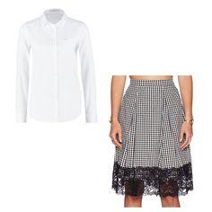 Pin for Later: 13 coole Outfit-Alternativen zum Dirndl Look 11: Ein karierter Rock mit einer weißen Bluse WAYF Midirock mit kariertem Muster und Saum aus Spitze (ursprünglich 52 €, jetzt 25 €) Lee weiße Bluse (ursprünglich 60 €, jetzt 42 €)