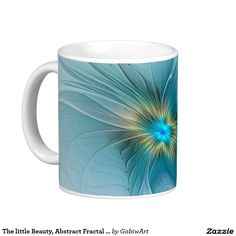 The little Beauty, Abstract Fractal Art with blue Coffee Mug