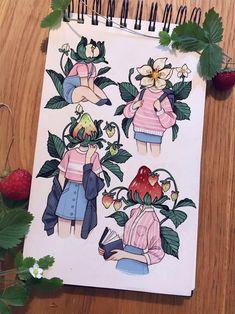 ( ˊ̱˂˃ˋ̱ ) Cute Art Styles, Cartoon Art Styles, Cool Art Drawings, Art Drawings Sketches, Posca Art, Arte Sketchbook, Marker Art, Character Design Inspiration, Pretty Art