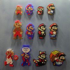 SUPER MARIO 30th ANNIVERSARY: 1985 - 1990 (Pixel Bead Art)