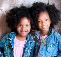 Twins. I love their hair!