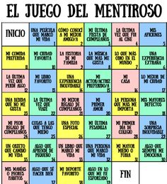 El juego del mentiroso | Diario Educación Jeny Rivera, Cossette, Bullet Journal Mood, Writing Challenge, Kids Party Games, Drinking Games, Creative Teaching, Kids Education, Contemporary Artists