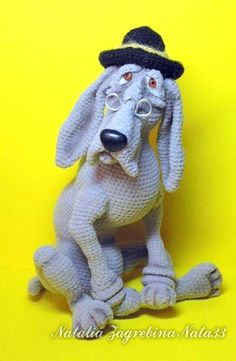 blood hound amigurumi dog crochet pattern