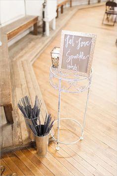 Sparkler sign for wedding sparkler exit.
