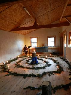 Advent spiral walk- can be adapted with a water hose for a living water theme.