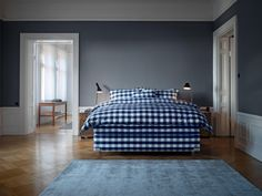 There's no denying it. A Hästens will take over your life. (Potentially in more ways than one, if you go top-to-toe Blue Check. Bedroom Green, Dream Bedroom, Bedroom Decor, Designing Women, Bed Maker, Dreams Beds, Satin Pillowcase, Relax, Bed Linen Design