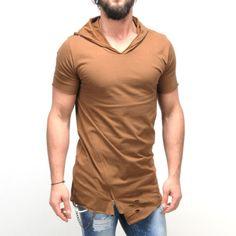 Hooded T-Shirt Slim Fit Fashion Stylish Ripped Hole Oversized Zippered Tee 2256 My T Shirt, Fitness Fashion, Hoods, Tees, Shirts, Calvin Klein, Slim, Zipper, Stylish