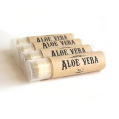 Natural Lip Balm - Aloe Vera - Vegan, Unscented Lip Balm