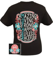 Girlie Girl Originals Mother Amazing Loving Strong Happy Selfless Grac | SimplyCuteTees