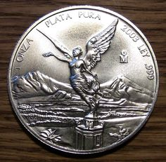 2003 Uncirculated Mexico silver Libertad 1 oz Plata Pura ASW coin WOW!