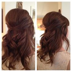 Hair: Half up half down updo. Simple but very pretty :)