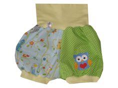 Baby - Pumphose - kurz - Eule  von Me Kinderkleidung auf DaWanda.com