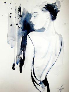 Anna Dart provocatively paints sexuality and sensitiveness in an elegant black aquarelle style | Creative Boom Blog | Art, Design, Creativit...