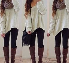 I loove the big fluffy scarves and sweaters with the skinny jeans and boots. Gonna be my autumn stapleee