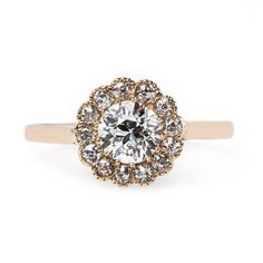 Rose Gold Edwardian Diamond Ring   Sunset Hill from Trumpet & Horn.  Beautiful <3