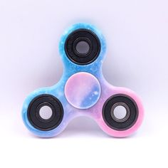 Hand Spinner Fidget Tri Finger Ceramic Toy For Focus Stress Relie Blue Sky Color #UnbrandedGeneric