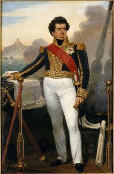 Guy-Victor Duperré (1775-1846), Français : amiral et ministre de la Marine de 1834 à 1843, représenté en petite tenue d'amiral alors commandant la flotte de l'expédition d'Alger en 1830 by Joseph-Désiré Court (French 1797 – 1865)