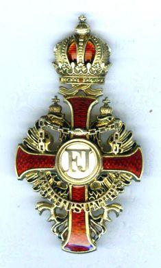 Order of Franz Joseph Officer pin back - Austria