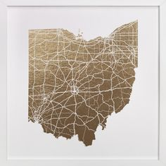 Ohio Map by GeekInk Design at minted.com