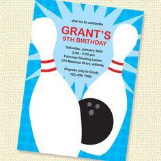 bowling invitations templates free | Free Printable Bowling ...