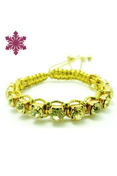 Macramê com Strass Color R$35.00