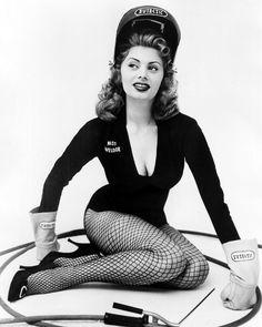 """vintagegal: """" Sophia Loren was selected as Miss Welder of 1954 by the National Eutectic Welders """""""
