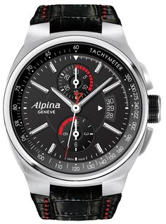 A true pioneer of the Swiss watchmaking industry, Alpina has been the source of numerous patents and innovative calibers. Alpina invented the concept of the Swiss sports watch as we know it today, with the creation of its legendary Alpina 4 in Breitling, Fine Watches, Wrist Watches, Men's Watches, Alpina Watches, Luxury Watches For Men, Mechanical Watch, Watches Online, Watch Brands