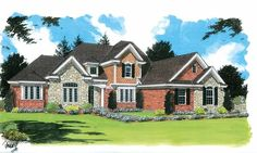 Eplans French Country House Plan - Deluxe Master Bath - 3581 Square Feet and 4 Bedrooms from Eplans - House Plan Code HWEPL05248