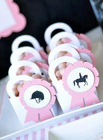 Horse theme party favor bags