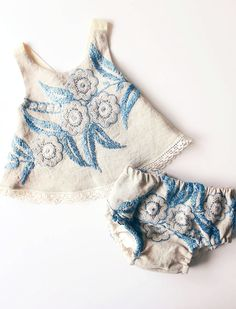 Handmade Embroidered Top & Bloomers | StandardOfGraceShop on Etsy