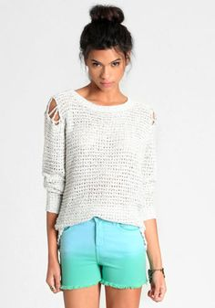 Secluded Lagoon Ombre Shorts #threadsence #fashion