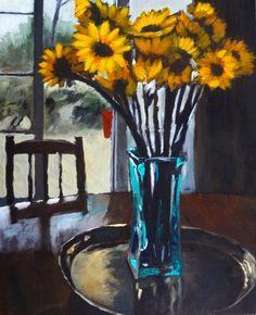 Francisca Louw - Sun flowers 2009  Oil on canvas