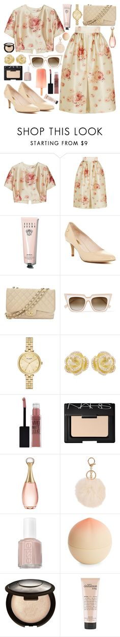 """""""DIDN'T MEAN TO MAKE YOU CRY"""" by queen-laureen ❤ liked on Polyvore featuring Vilshenko, Bobbi Brown Cosmetics, Chanel, self-portrait, Kate Spade, Effy Jewelry, Maybelline, NARS Cosmetics, Christian Dior and Armitage Avenue"""