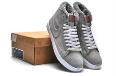 online store 033b0 288f0 Moins cher Nike Blazer Men Haute Suede VT Gris Blanc de fourrure Newest  Jordans, Blazers
