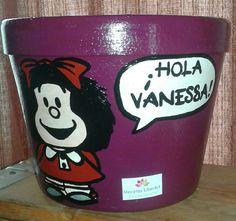 Maceta Mafalda (violeta) con ssludo 1