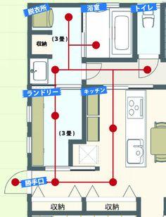 我が家の最強家事動線 | 平屋を建てる! Bunk Bed Designs, Balcony Design, Room Planning, House Layouts, House Rooms, Building A House, House Plans, New Homes, Floor Plans