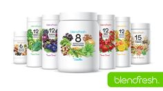 Blendfresh Product Family  All Blendfresh products are: Clean, Raw, Rich, Diverse, and Centsable. They're the easiest way to eat healthy everyday!  my.blendfresh.com/belindaesnyder