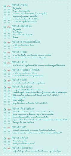 Check list para vistoria de imóvel | Comprando Meu Apê