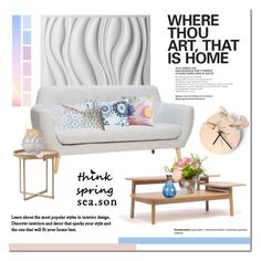 Spring Season by cruzeirodotejo on Polyvore featuring interior, interiors, interior design, home, home decor, interior decorating, .wireworks, Bloomingville, Madison Park and Bluebellgray