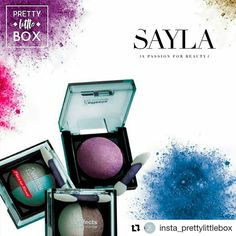 2 Effect Eyeshadows from Sayla in September Pretty Little Box Edition!!  It's Friday, put your make up on with Sayla Beauty and get ready to party!   Thank you  @insta_prettylittlebox you rock 😍🌺🌺⚘⚘  #PrettyLittleBox #PLB #Sayla #Cosmetics #Women #Summer #Beach #Surprise #Fashion #Lebanon #Beirut #Liban #saylalb
