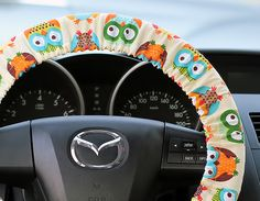 Steering-Wheel-Cover-Bow-Wheel-Car-Accessories-Lilly-Heated-For-Girls-Interior-Aztec-Monogram-Tribal-Camo-Cheetah-Sterling-Chevron-Big-Owls @arjkids